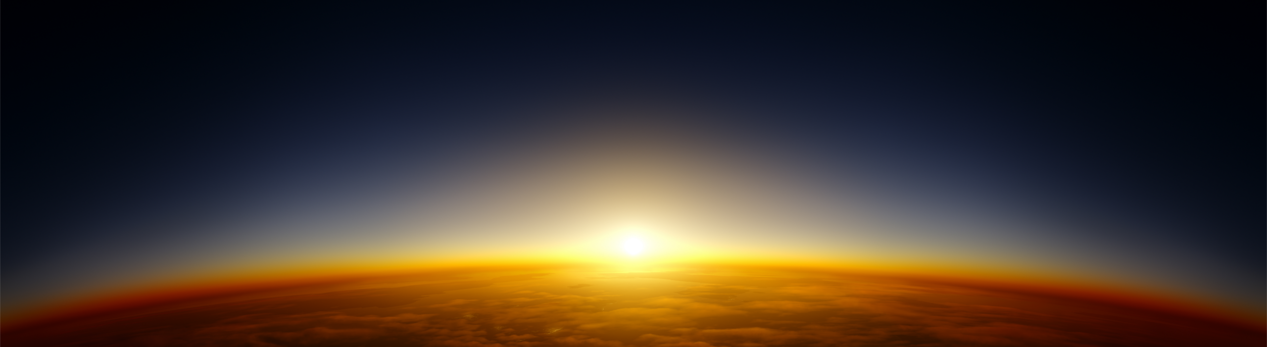 image of sun rising over a planet